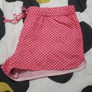 Pink J.crew Drawstring Shorts